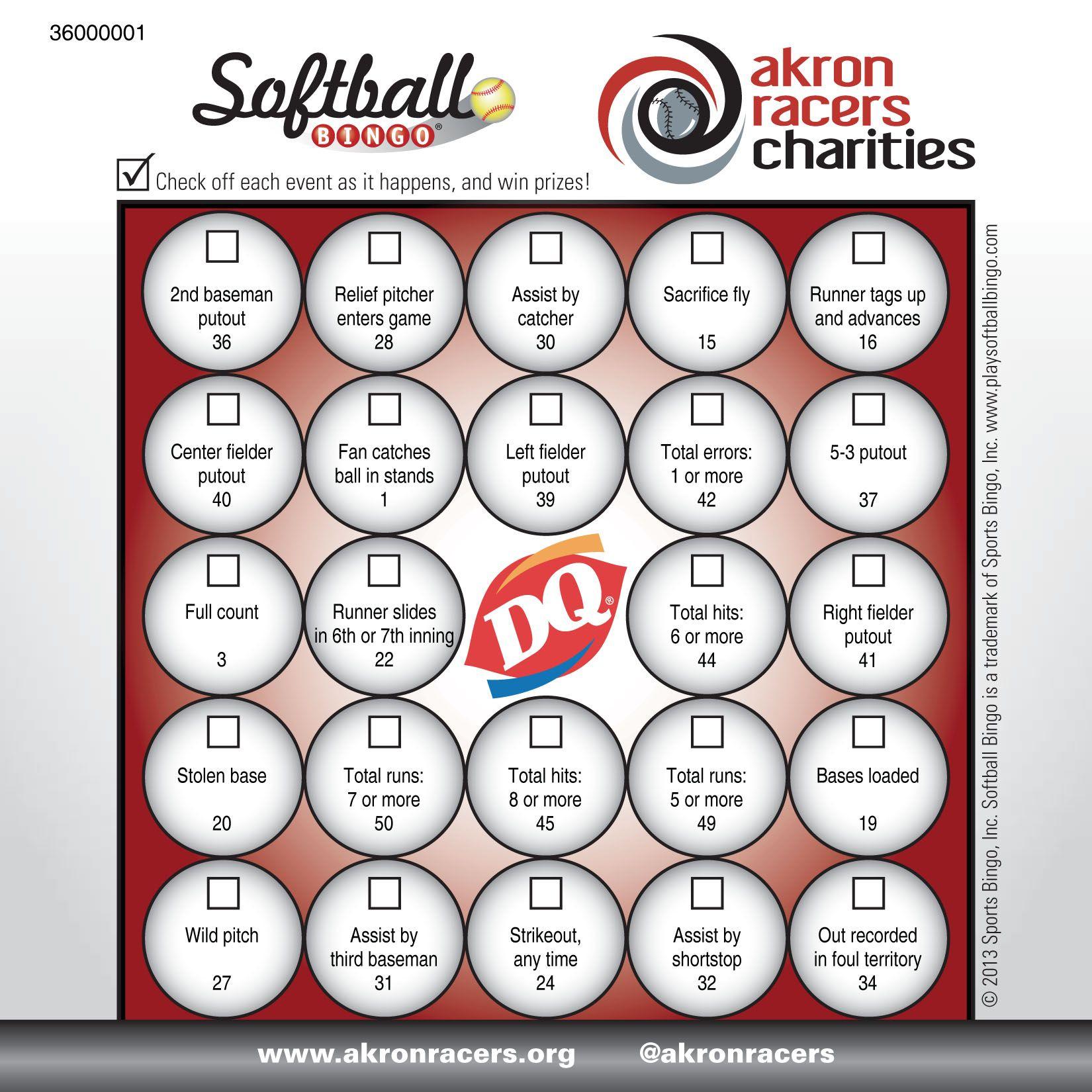 Softball Bingo - Www.playsidelinesports | Softball, Card