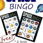Space Bingo {Free}   Ruimte Thema, Ruimte Feestje En