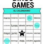 Spanish Calendar Bingo | El Calendario 40 Printable Bingo