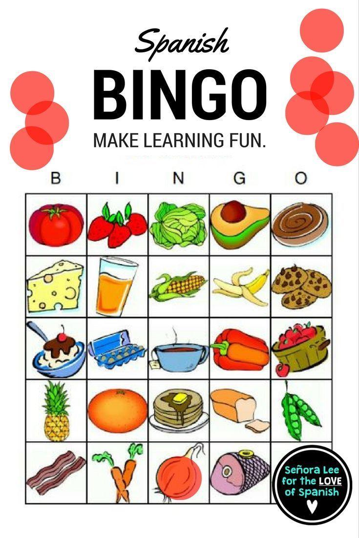 Spanish Food - Bingo   Learning Spanish, Ways Of Learning