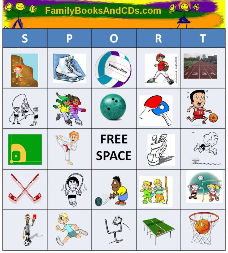 Printable Sports Bingo Cards