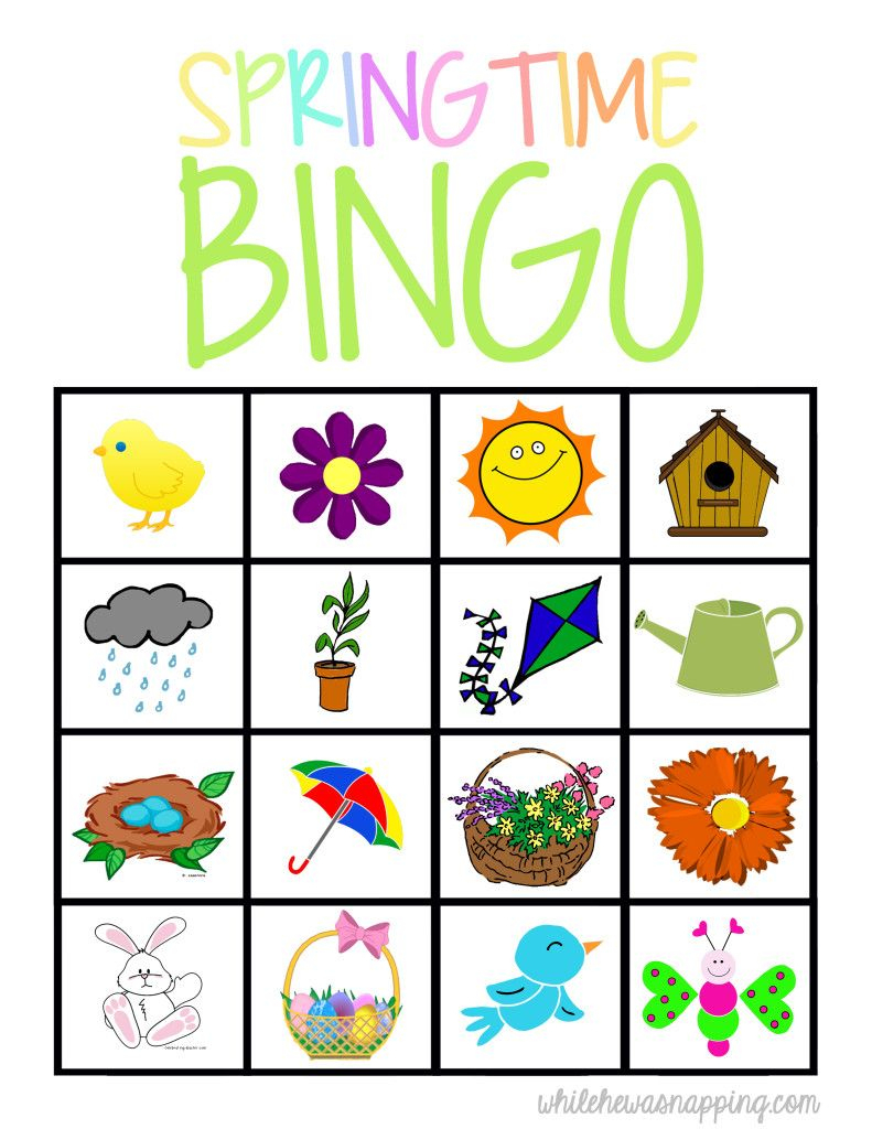 Springtime Bingo Game Printable | Spring Preschool