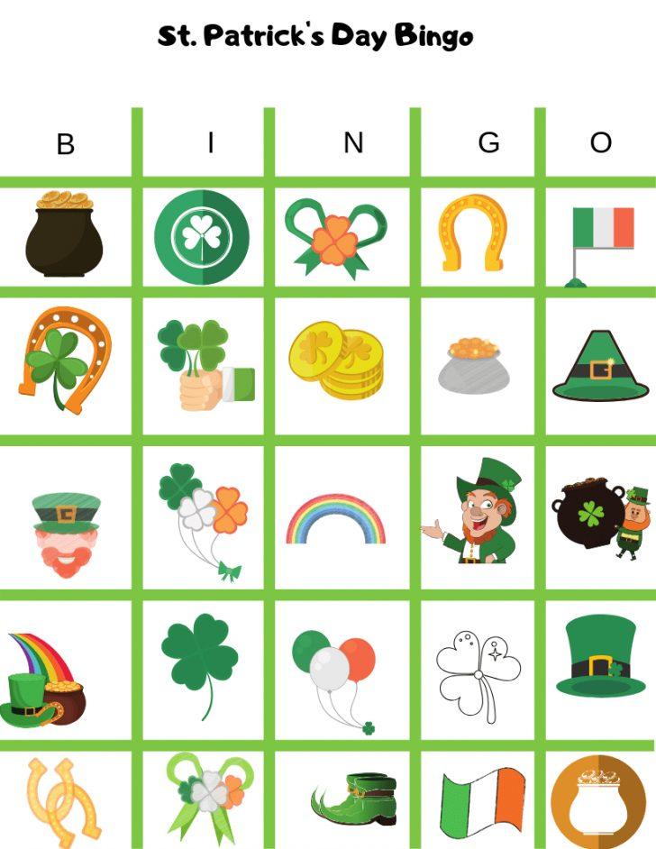 St.Patrick's Day Bingo Printable Cards Free