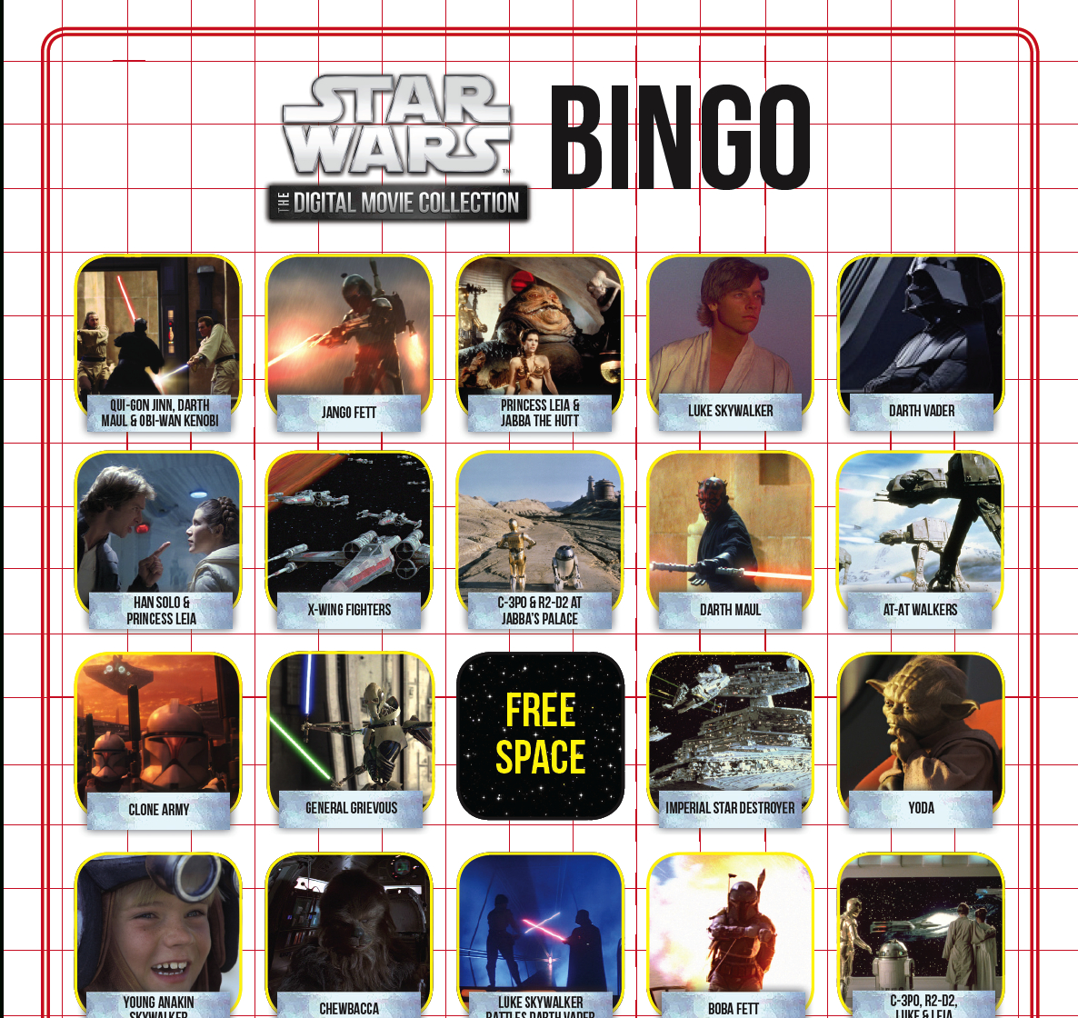 Star Wars Bingo | Disney Family