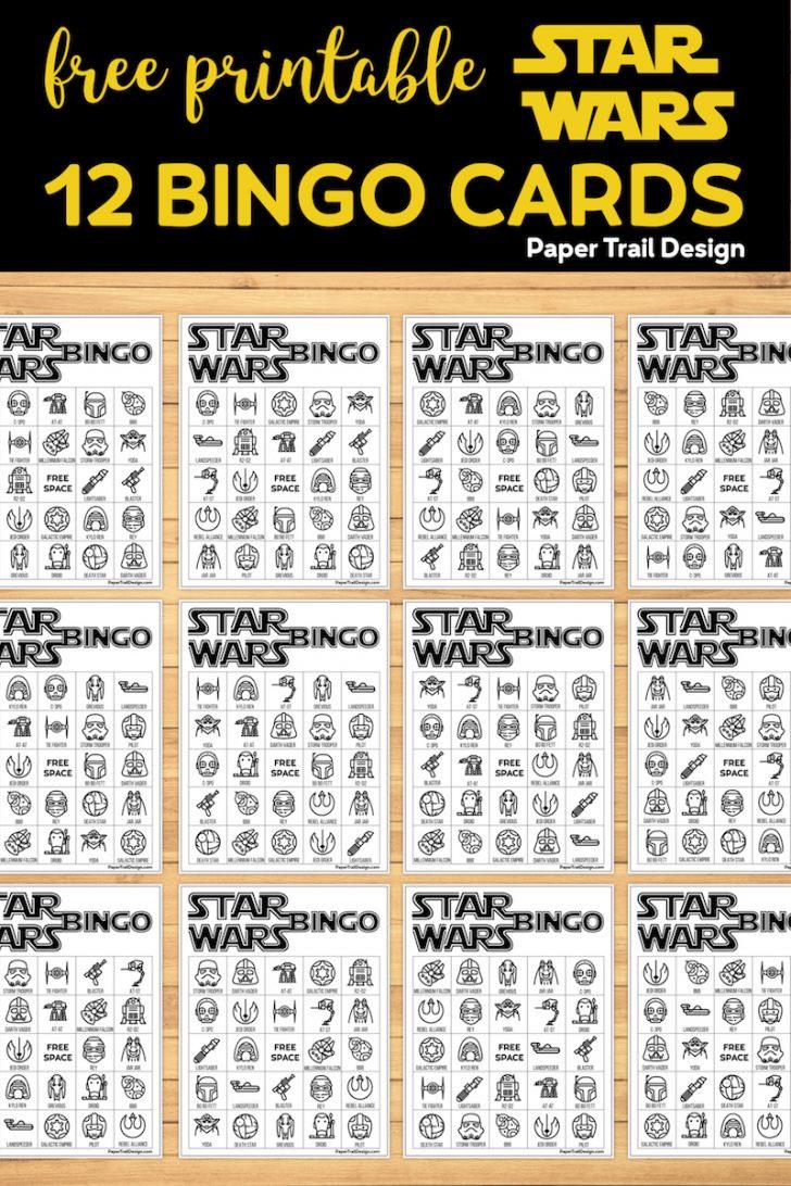 Star Wars Bingo Cards Printable
