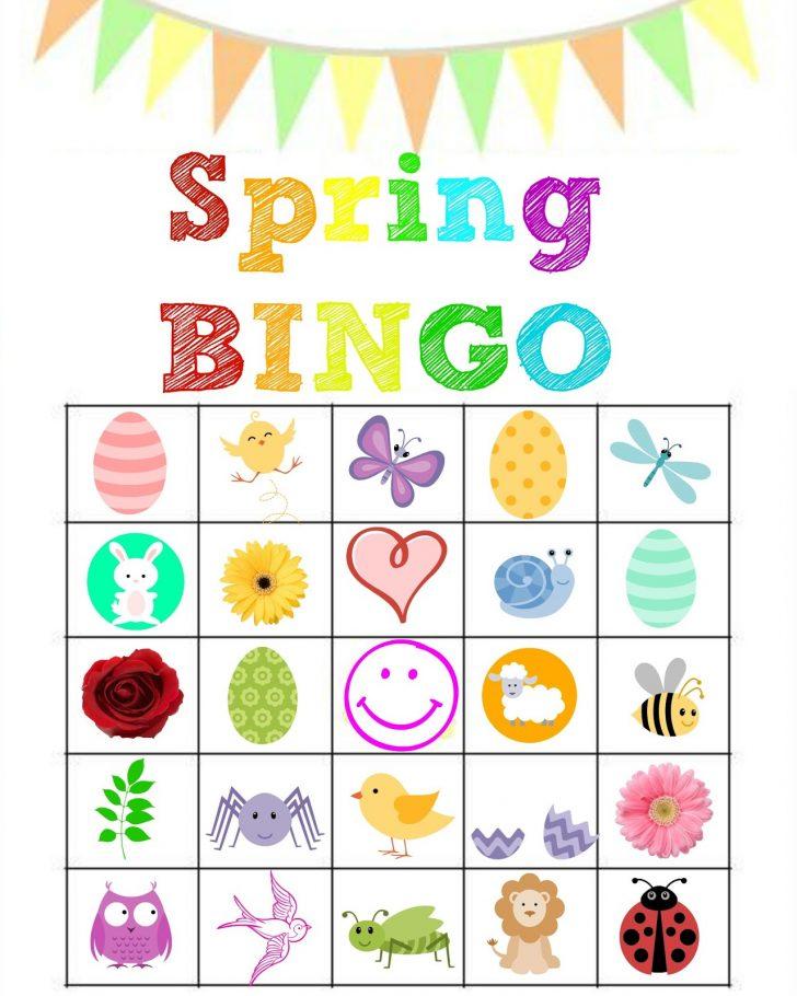 Free Spring Printable Bingo Cards