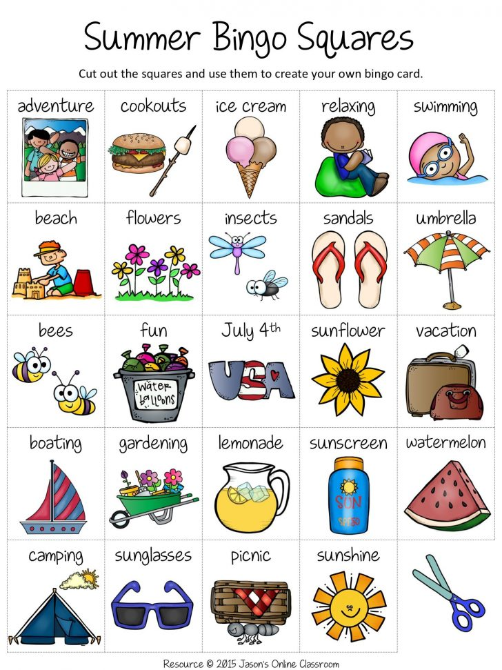 Summer Bingo Cards Free Printable