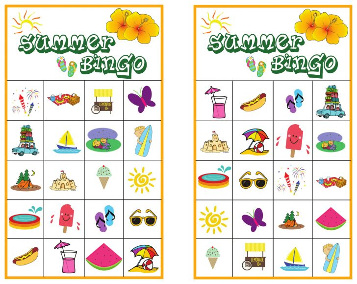 Beach Bingo Printable Cards