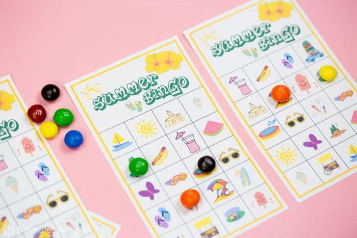 Free Printable Summer Themed Bingo Cards
