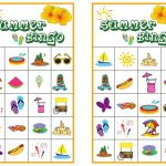 Summer Bingo Game With Free Printables   Bingo, Bingo Games