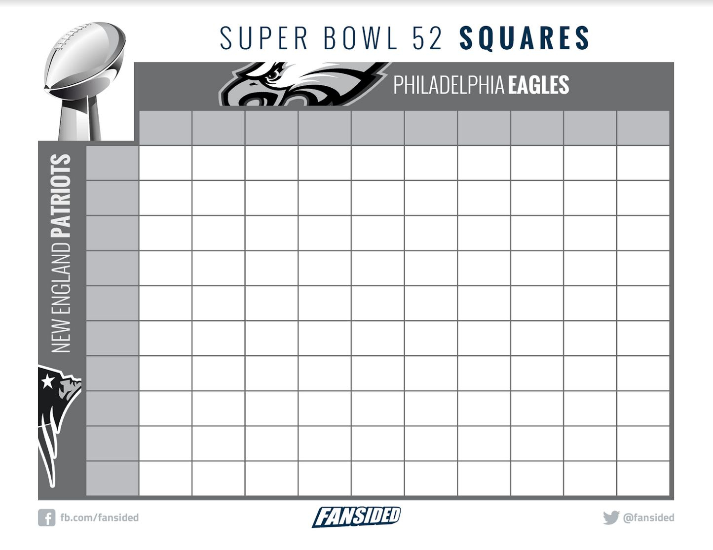 Super Bowl 52 Bingo And Squares