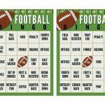 Super Bowl Football Bingo Cards (Free Printable   Bingo
