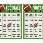 Super Bowl Football Bingo Cards (Free Printable | Bingo