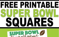 Super Bowl Liv Squares Pdf – Daily Superbowl News 2020