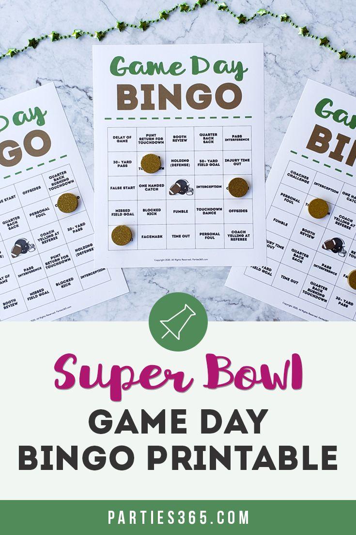 Super Bowl Party Bingo Printable   Bingo Cards, Fun Party