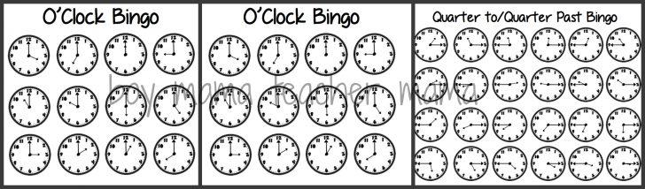 Free Printable Telling Time Bingo Cards