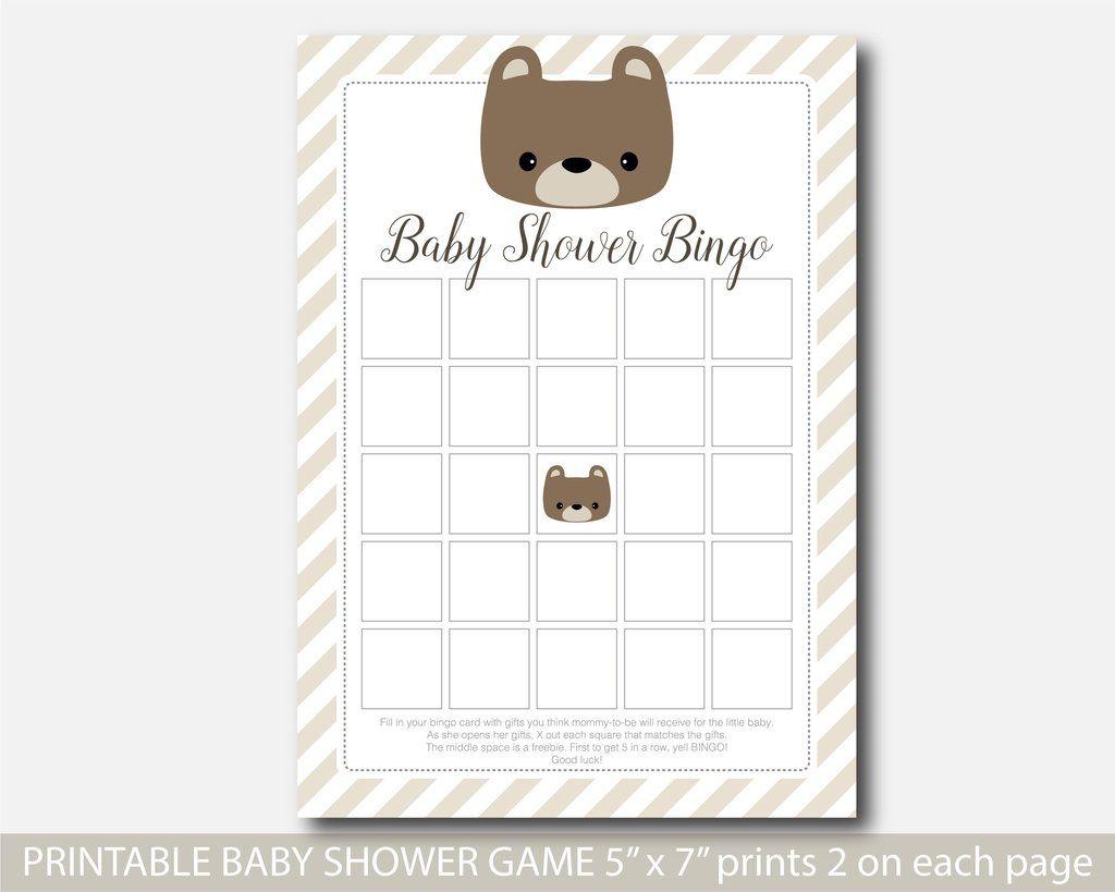Teddy Bear Bingo Game, Blank Printable Woodland Teddy Bingo