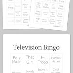 Television Bingo   Bingo Cards, Free Printable Bingo Cards