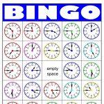 Telling Time Bingo Card Generator