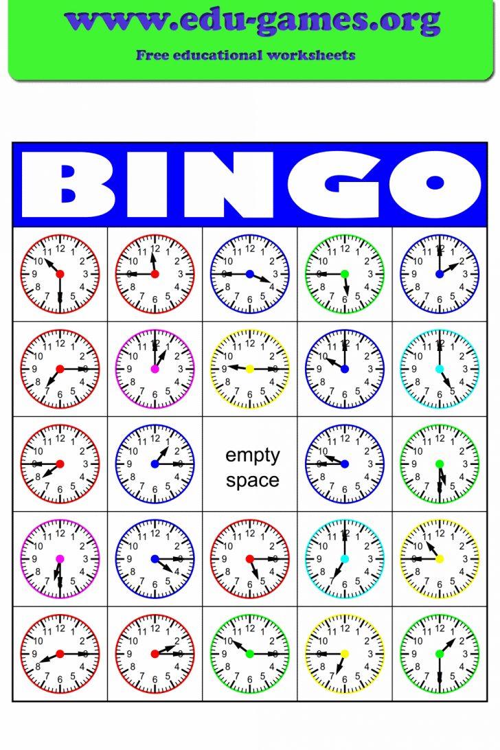 Time Telling Bingo Cards Printable
