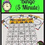 Telling Time Bingo   Nearest 5 Minutes   3Rd Grade Math