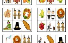Thanksgiving – Bingo Cards – English Esl Worksheets For