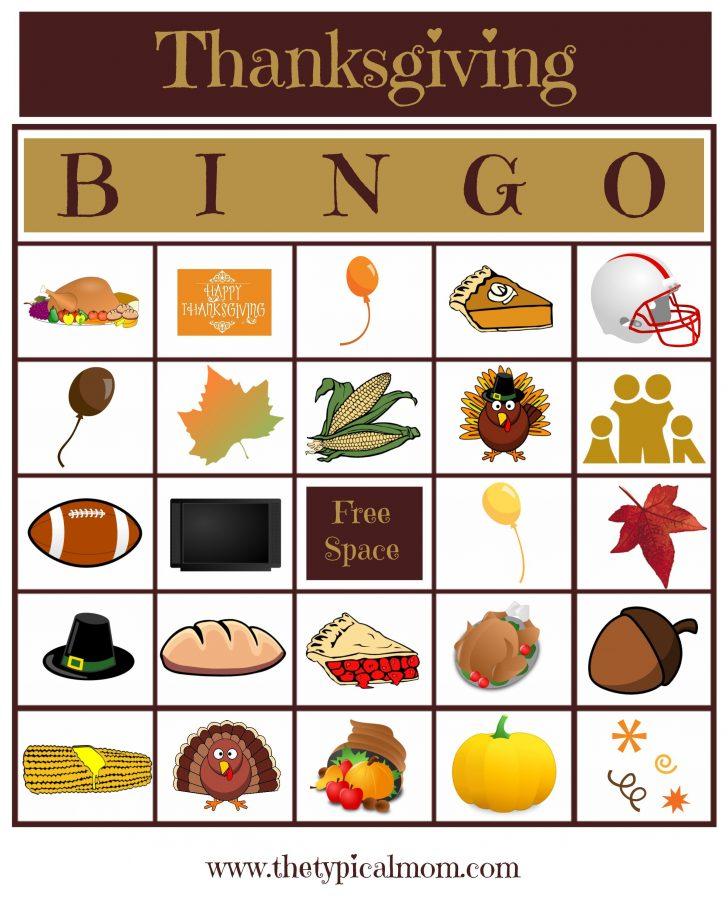 Printable Bingo Card For Thanksgiving Pdf
