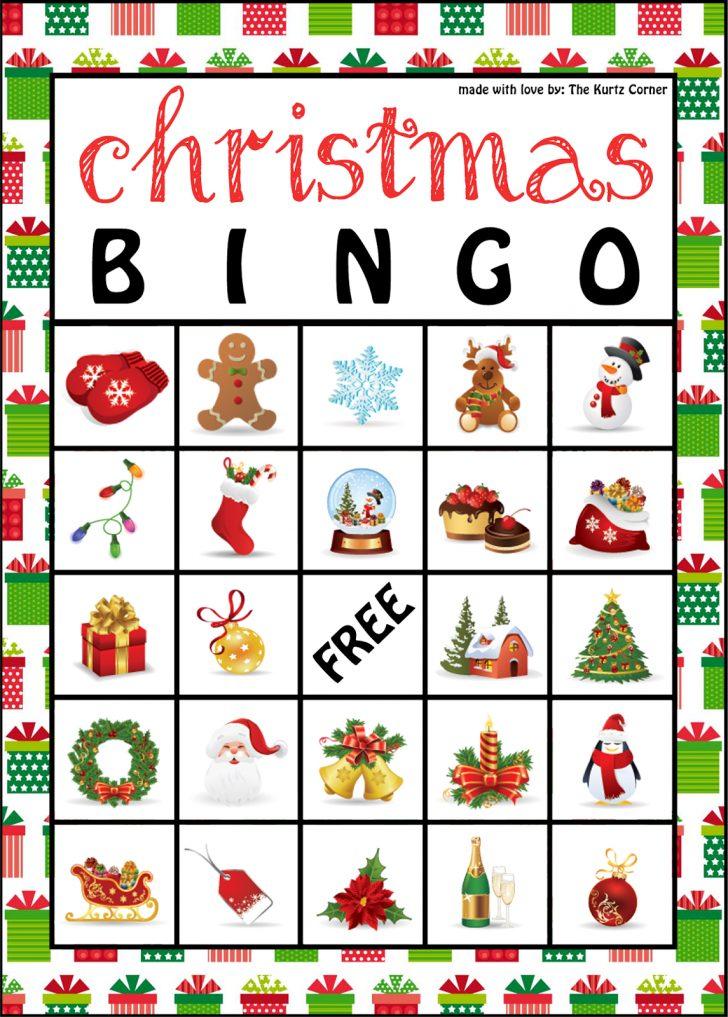 Printable Bingo Cards Holiday