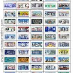 The License Plate Game Printable   Road Trip Games, Travel