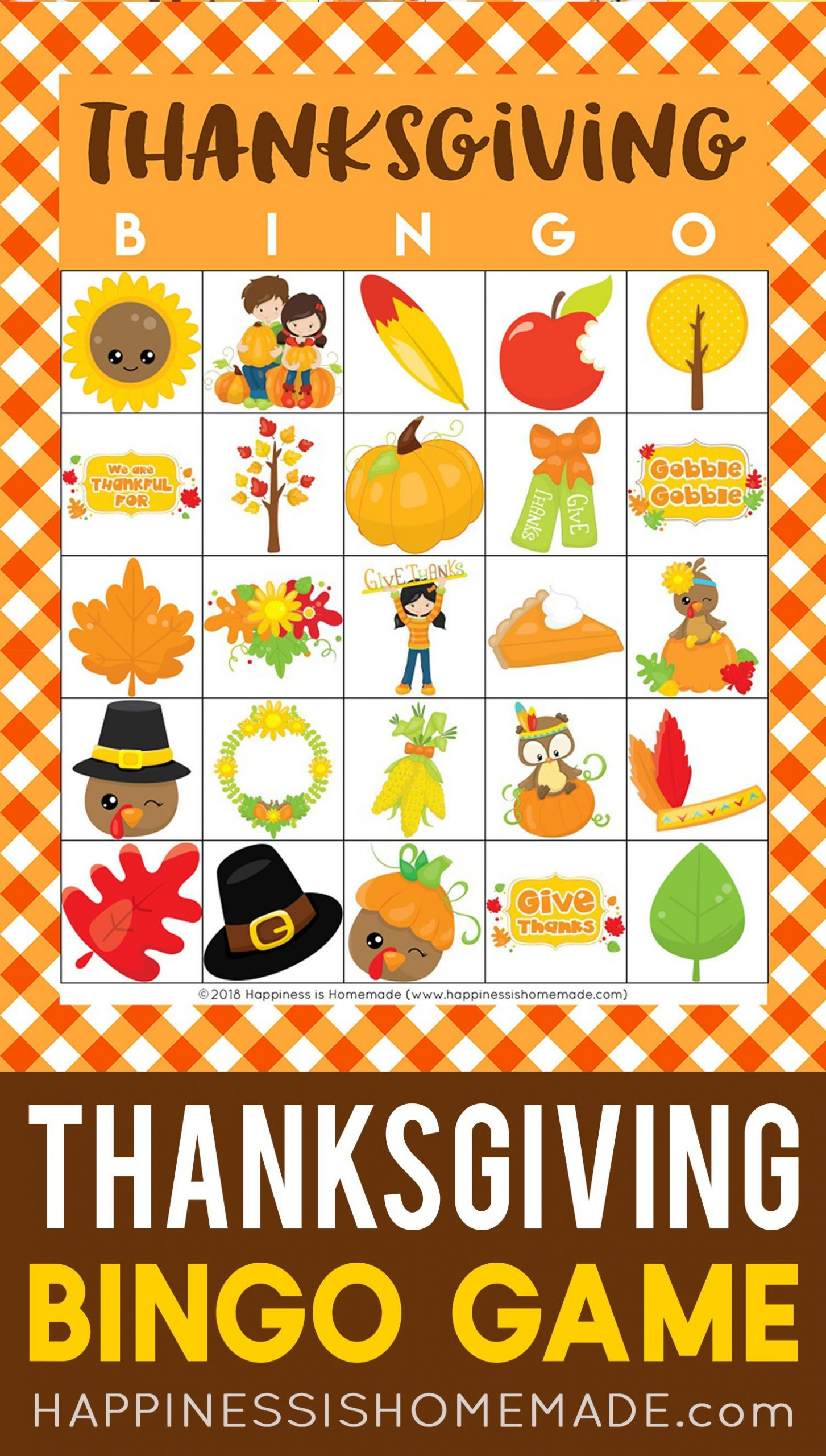 This Thanksgiving Bingo Game Is The Perfect Way To Keep