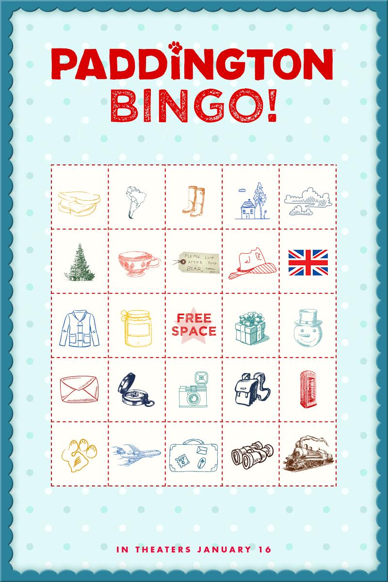 Time To Play Paddington Bingo! Print Out A Free Bingo Card