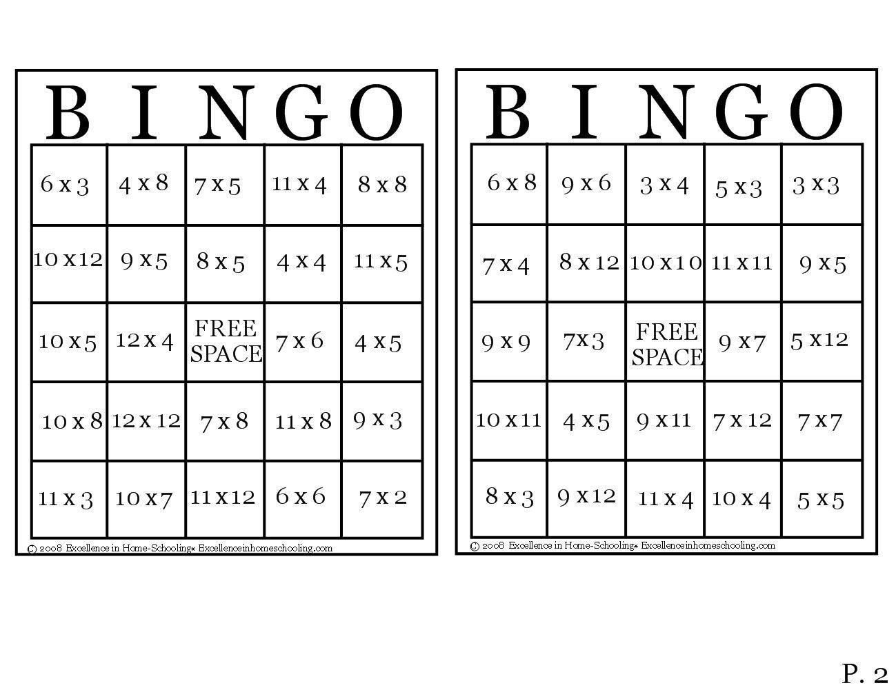 Times Table Bingo | Times Tables, Bingo, Teaching Math