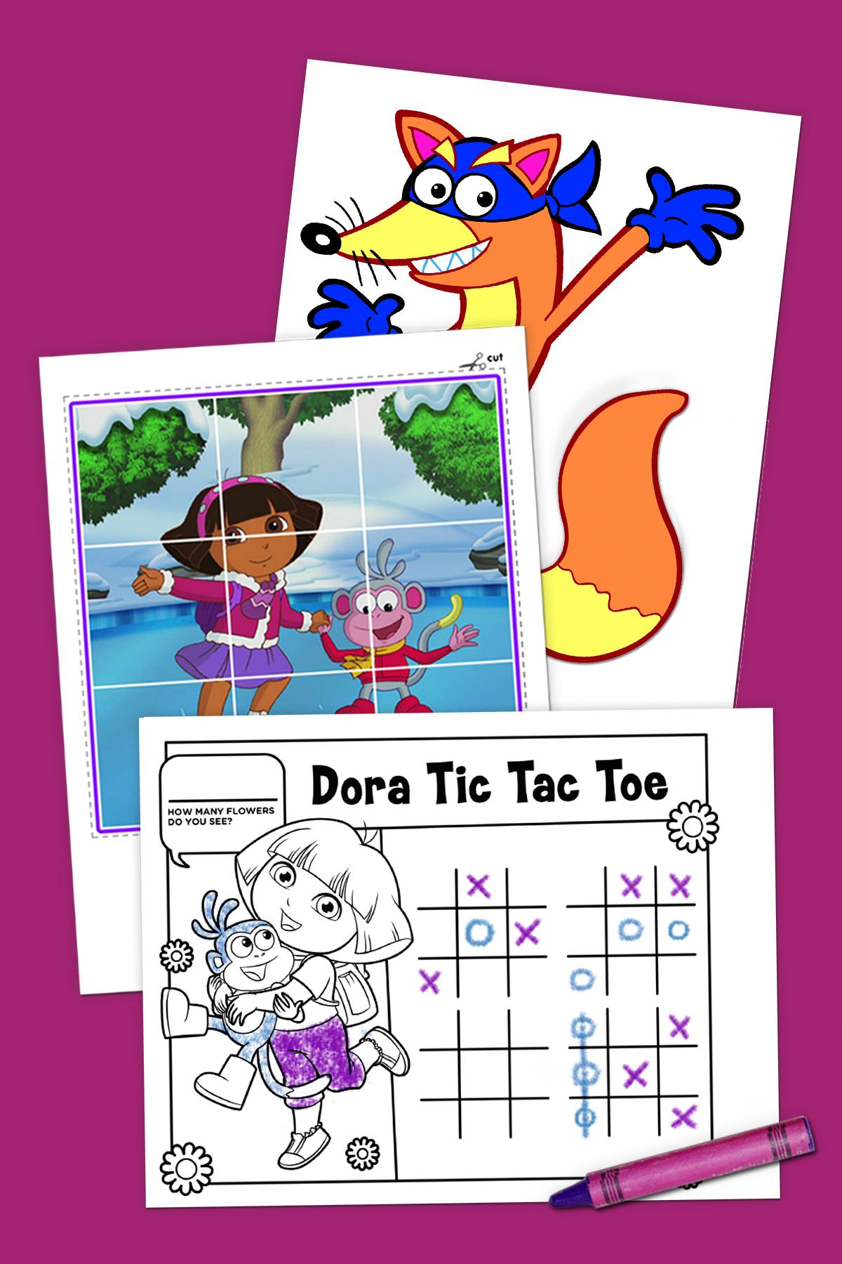Top 10 Dora The Explorer Printables Of All Time