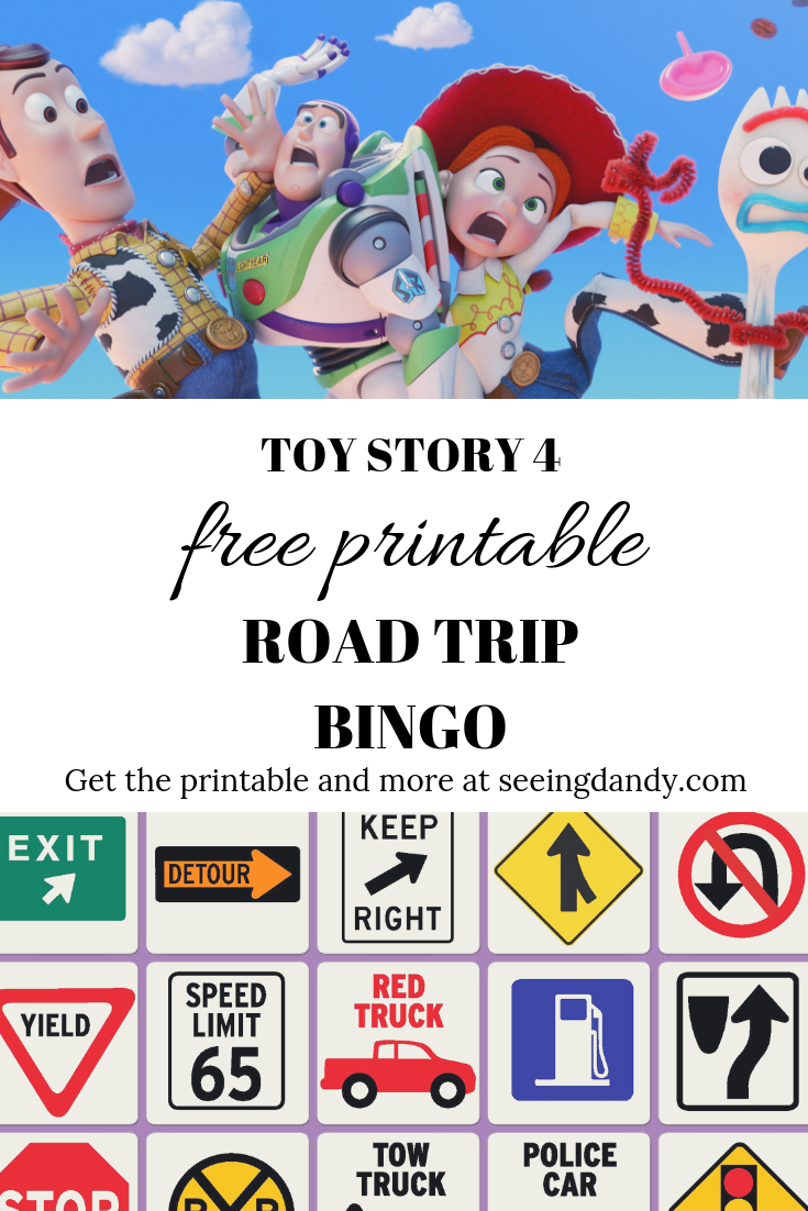 Toy Story 4 Printable Road Trip Bingo For Family Vacation