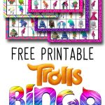 Trolls Free Printable Bingo Cards   Trolls Birthday Party