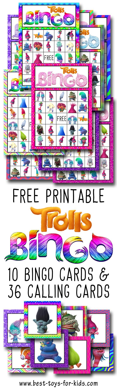 Trolls Free Printable Bingo Cards - Trolls Birthday Party