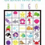 Under The Sea Bingo | Kinderfeestje, Zeemeerminnen, Onder De Zee