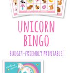 Unicorn And Woodland Animal Bingo, Perfect Activity For A