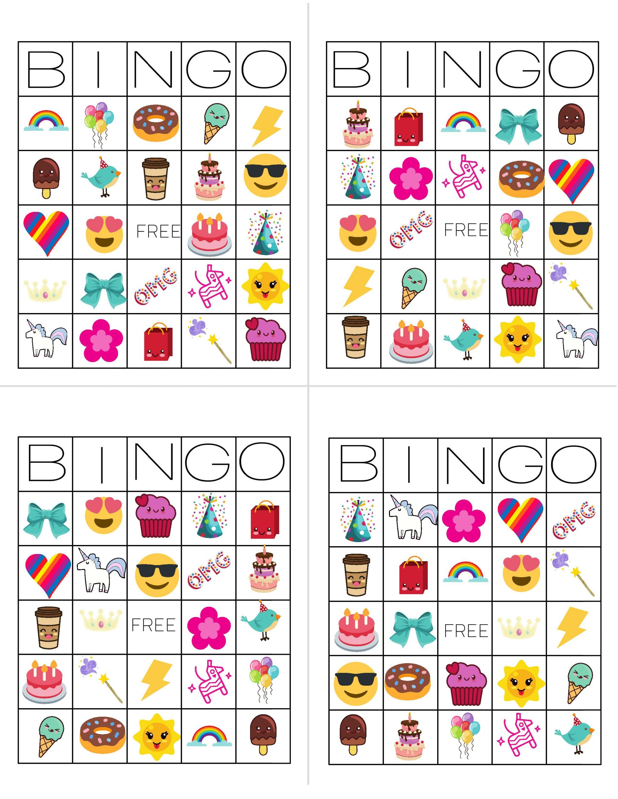 Unicorn Bingo Free Printable Download - Tinselbox