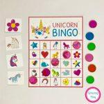 Unicorn Bingo Party Printable   Instant Download