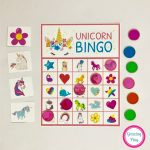 Unicorn Bingo Party Printable   Instant Download | Unicorn