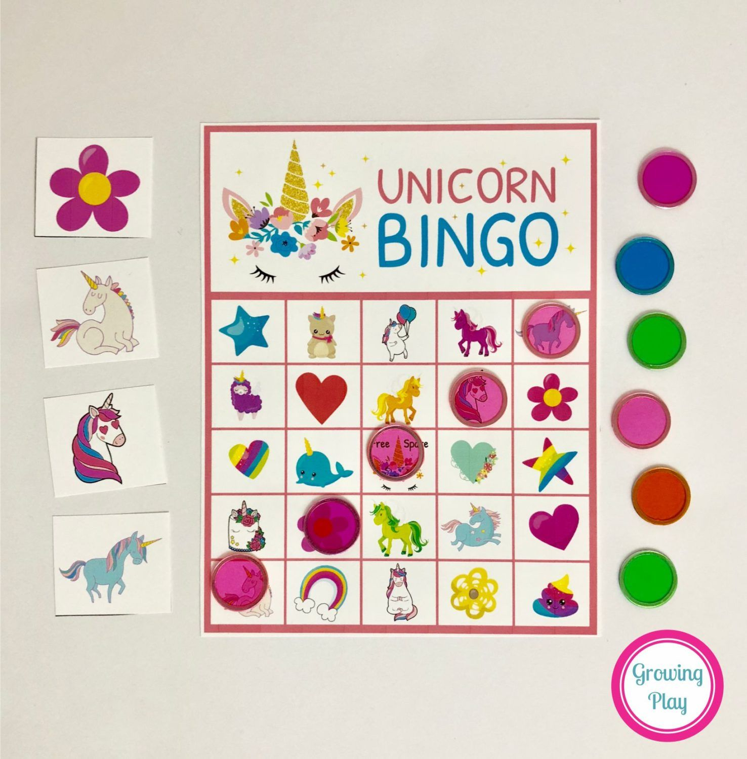 Unicorn Bingo Party Printable - Instant Download | Unicorn