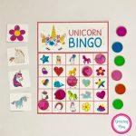 Unicorn Bingo Party Printable   Instant Download | Unicorn