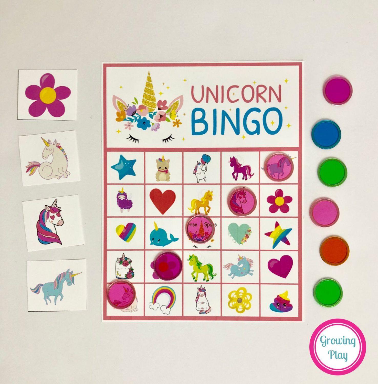 Unicorn Bingo Party Printable - Instant Download | Unicorn