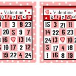 Valentine Bingo (2 Different Sets Of Cards, Pictures And