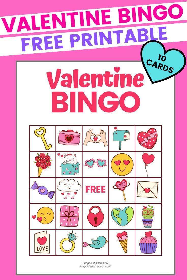 Valentine Bingo - Free Printable Valentine's Day Game With