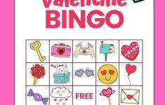 Valentine Bingo – Free Printable Valentine's Day Game With