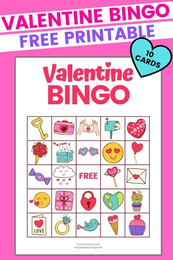 Printable Bingo Cards Valentines Day