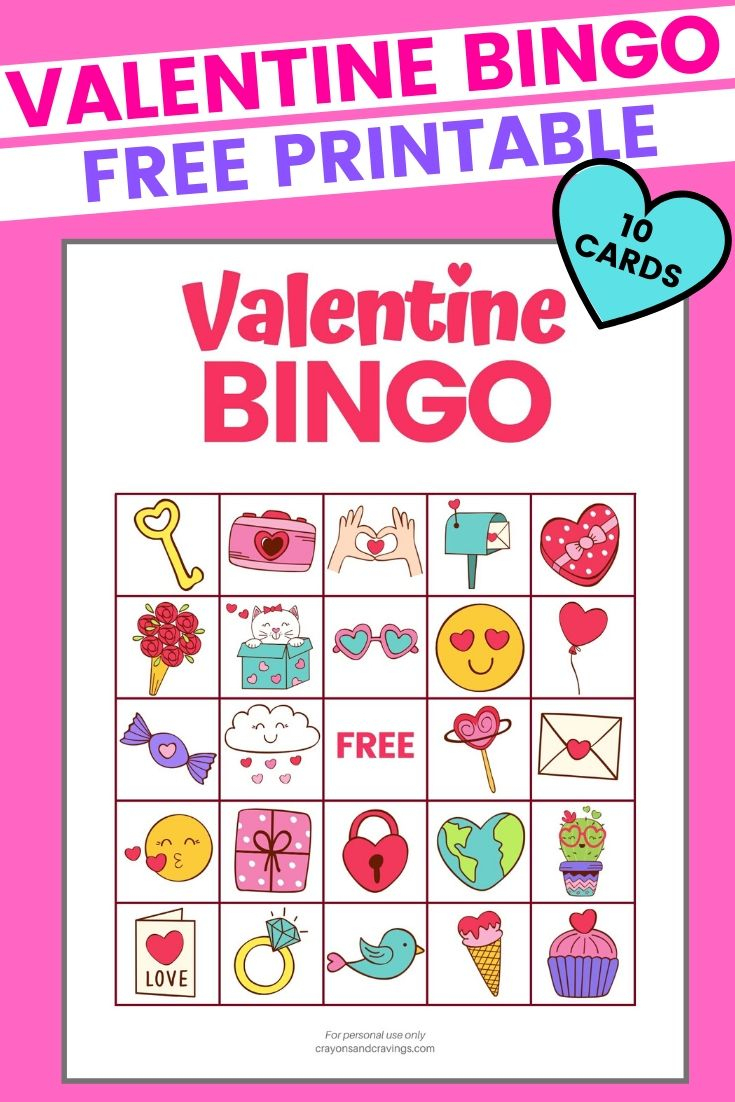 Valentine Bingo - Free Printable Valentine's Day Game With