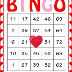 Valentine's Bingo Cards   Printable Download   Prefilled